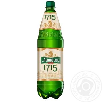 Пиво Львівське 1715 світле 4,7% 1,15л - купити, ціни на Novus - фото 1