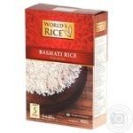 Рис World's Rice Басматі довгозернистий в пакетиках 400г