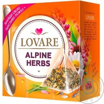 Чай Lovare Альпийские травы 15шт*2г - купить, цены на УльтраМаркет - фото 1