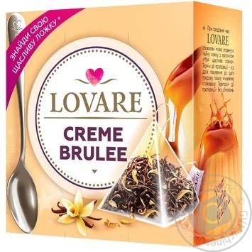 Чай чорний Lovare Creme Brulee листовий байховий в пірамідках 15*2г - купити, ціни на МегаМаркет - фото 1