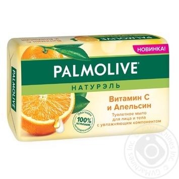 Мыло для лица и тела Palmolive Натурэль Витамин С и Апельсин туалетное 150г - купить, цены на ЕКО Маркет - фото 1