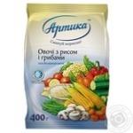 Овощи Артика с рисом и грибами замороженные 400г