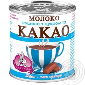 Молоко сгущенное Заречье с сахаром и какао 7,5% 370г - купить, цены на Novus - фото 1