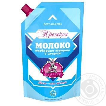 Молоко згущене Заречье Преміум незбиране з цукром 8.5% 450г - купити, ціни на Novus - фото 1