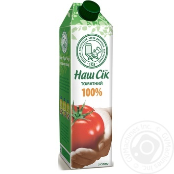 Сік томатний з сіллю Наш Сік 950мл - купити, ціни на Novus - фото 1