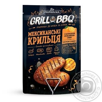 Grill&BBQ Pripravka Приправа для мяса и курицы Мексиканские крылышки с апельсином тамариндом и имбирем 30г - купить, цены на Novus - фото 1