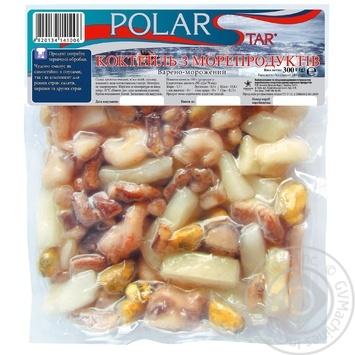 Коктейль з морепродуктів варено-заморожений ТМ Polar Star 400г - купити, ціни на Ашан - фото 1