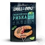 Grill&BBQ Pripravka Приправа к рыбе и морепродуктам Сицилийская рыбка с натуральным соком лайма листьями кафир-лайма и чили 30г