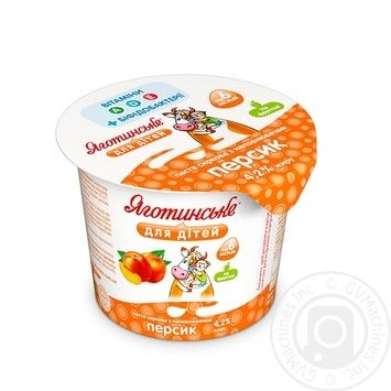 Yagotynske For Children Peach For 6+ Months Babies Cottage Cheese 4.2% 100g - buy, prices for MegaMarket - image 1