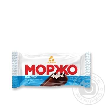 Морозиво Три Ведмеді Моржо пломбір 80г - купити, ціни на Метро - фото 1
