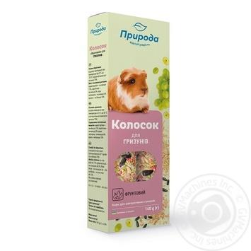 Колосок для гризунів Природа фруктовий 0,14кг х10 - купити, ціни на МегаМаркет - фото 1