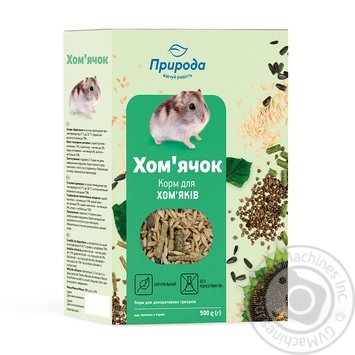 Food for hamsters Priroda Hamster 500g - buy, prices for CityMarket - photo 1