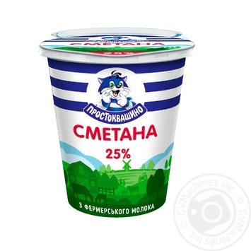 Сметана Простоквашино 25% 350г - купити, ціни на МегаМаркет - фото 1
