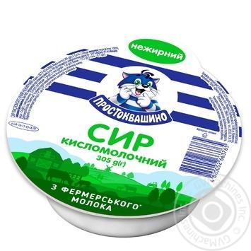 Творог Простоквашино нежирный 305г - купить, цены на Фуршет - фото 1