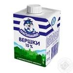 Сливки Простоквашино стерилизованные 15% 200г - купить, цены на Novus - фото 2