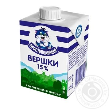 Prostokvashyno Sterilized Cream 15% - buy, prices for Furshet - image 2
