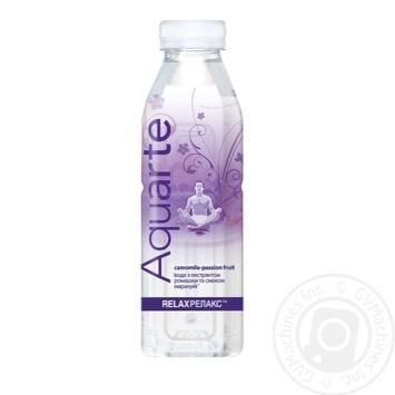 Вода Aquarte Релакс з екстрактом ромашки і смаком маракуйї 500мл - купити, ціни на МегаМаркет - фото 1