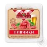 Ковбаски Півчики 1/г с/к 100г ЮвілейнийМК