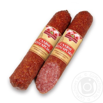 Samobranka Salami Bulgarian Sausage Raw-smoked First Grade - buy, prices for Auchan - image 1