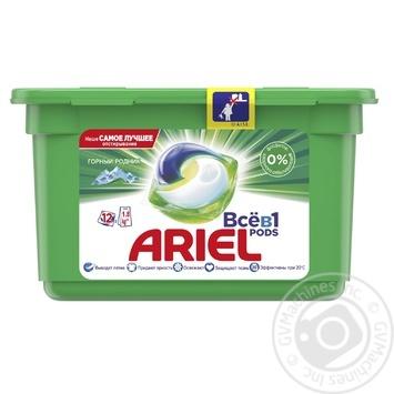 Гель-капсулы Ariel Pods Горный родник автомат 12шт 27г - купить, цены на Восторг - фото 1