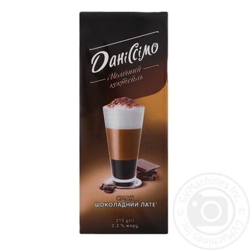 Danissimo Milk cocktail Chocolate latte ultrapasteurized 2.2% 215g - buy, prices for MegaMarket - image 1