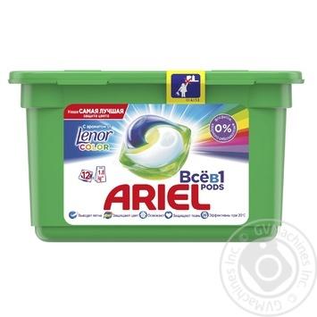 Капсули для прання Ariel Pods Все-в-1 Touch of Lenor Fresh 12шт - купити, ціни на МегаМаркет - фото 1