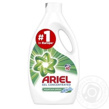 Жидкий стиральный порошок Ariel Горный родник 2,2л - купить, цены на Метро - фото 1