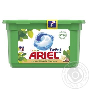 Капсулы для стирки Ariel PODS 3 в 1 Масло Ши 12шт 27г - купить, цены на МегаМаркет - фото 1
