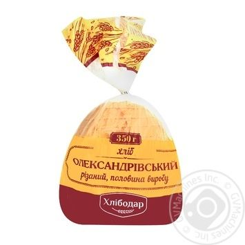 Хлеб Хлебодар Александровский резаный половинка 350г