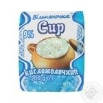 Сир кисломолочний Вільняночка 9% 200г
