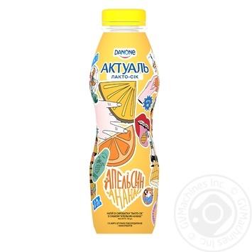 Напій із сироватки Актуаль Лакто-сік апельсин-ананас 0% 580г - купити, ціни на Novus - фото 2