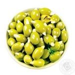 Amalthia Pitted Green Olives with Almonds