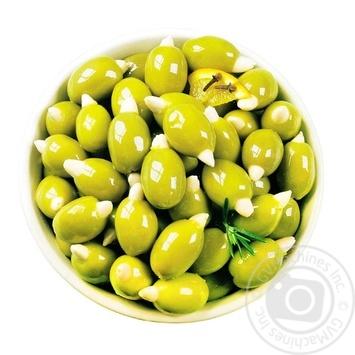 Оливки Amalthia зелені з мигдалем без кісточки - купити, ціни на Восторг - фото 1