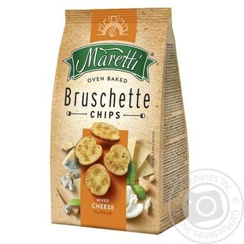 Хлібні брускети Maretti запечені зі смаком суміш сирів 140г - купити, ціни на Метро - фото 1