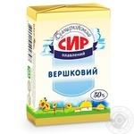 Сир плавлений Білоцерківський Вершковий 50% 90г