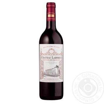 Вино Chateau Laroque Saint-Emilion Grand Cru красное сухое 14% 0.75л