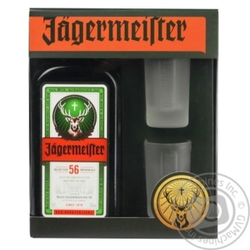 Ликер Jagermeister 35% 0.7л + 2 рюмки