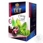 Чай зеленый ТЕТ с вишней и мятой 20шт*2г - купить, цены на Фуршет - фото 1