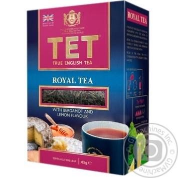 Чай черный Tet Royal байховый с лимоном и бергамотом 85г - купить, цены на МегаМаркет - фото 1