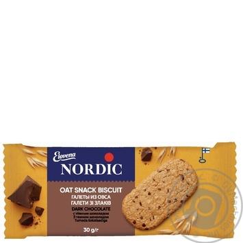 Галета Нордик из овса с темным шоколадом 30г - купить, цены на Восторг - фото 1
