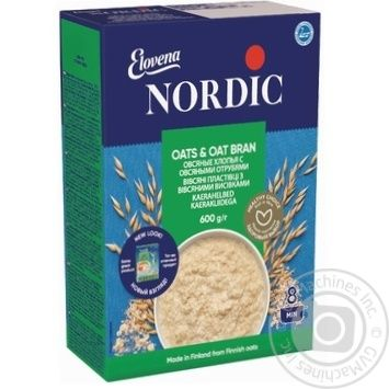 Oat flakes Nordic with bran 600g - buy, prices for MegaMarket - image 1
