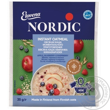 Oatmeal porridge Nordic apple blueberry raspberry quick-cooking 35g Finland