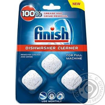 Средство Finish для очистки посудомоечных машин в капсулах 3*17г