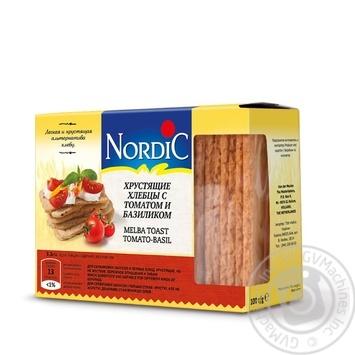 Хлебцы хрустящие Nordic с томатом и базиликом 100г