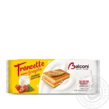 Бисквиты Balconi Trancetto с клубникой 10шт*28г