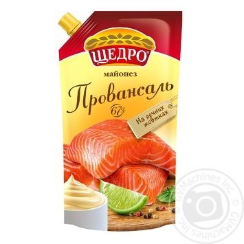 Майонез Щедро Провансаль 67% 550г - купить, цены на Novus - фото 1