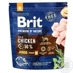 Brit Premium Chicken Dry Food For Puppies And Young Middle Breed Dogs 1kg
