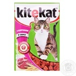 Cat food Kitekat with beef in sauce 100g