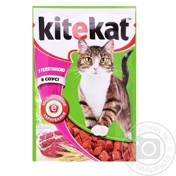 Корм Kitekat для дорослих котів з телятиною в соусі 100г
