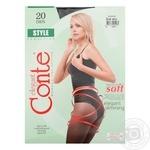 Колготи Conte Style жіночі 20 ден чорні розмір 3